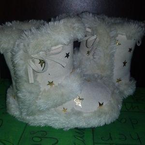 Koala Baby Soft Sole Fur Slippers